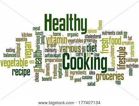Healthy Cooking, Word Cloud Concept 7