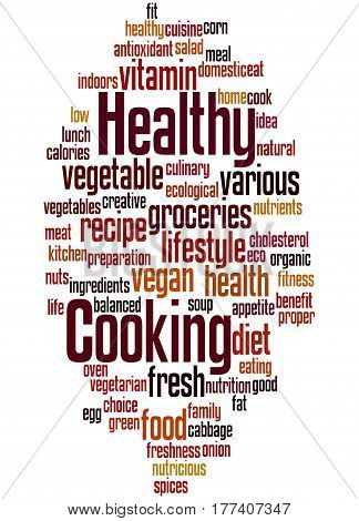 Healthy Cooking, Word Cloud Concept 8