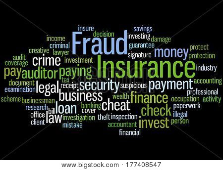 Insurance Fraud, Word Cloud Concept 9