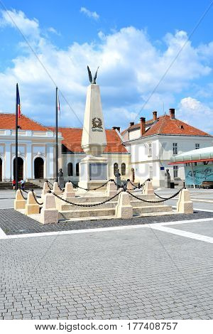 Medieval fortress Alba Iulia, Transylvania. The modern city is located near the site of the important Dacian political, economic and social centre of Apulon, which was mentioned by the ancient Greek geographer Ptolemy
