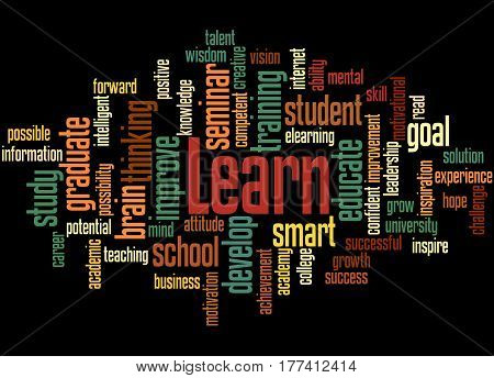 Learn, Word Cloud Concept 4