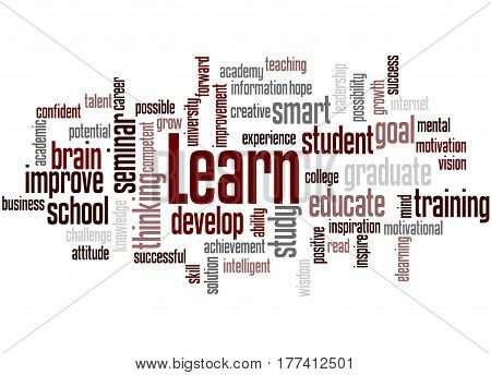 Learn, Word Cloud Concept 5