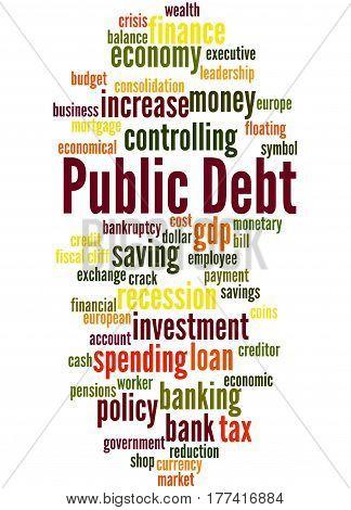 Public Debt, Word Cloud Concept 6