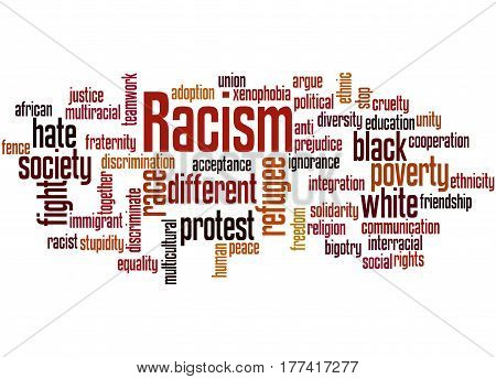 Racism, Word Cloud Concept