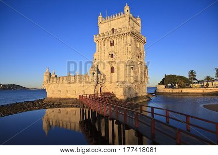 Belem Tower - Torre De Belem In Lisbon Portugal