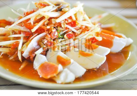papaya salad or Thai spicy salad (som tam)
