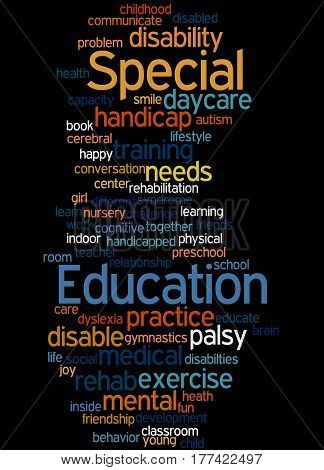 Special Education, Word Cloud Concept 8