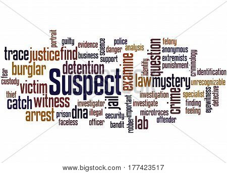 Suspect, Word Cloud Concept