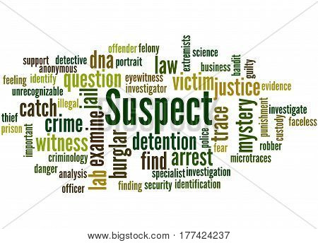 Suspect, Word Cloud Concept 6