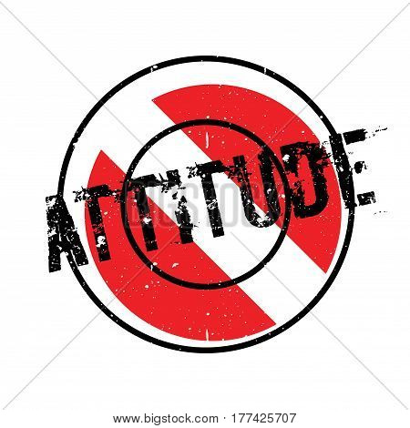 Attitude rubber stamp. Grunge design with dust scratches. Effects can be easily removed for a clean, crisp look. Color is easily changed.