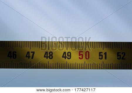 tape measure, close-up