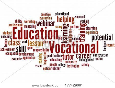 Vocational Education, Word Cloud Concept