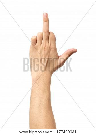 Middle Finger, Offensive Gesture Isolated