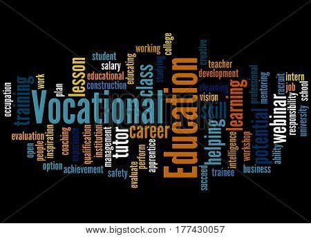 Vocational Education, Word Cloud Concept 6