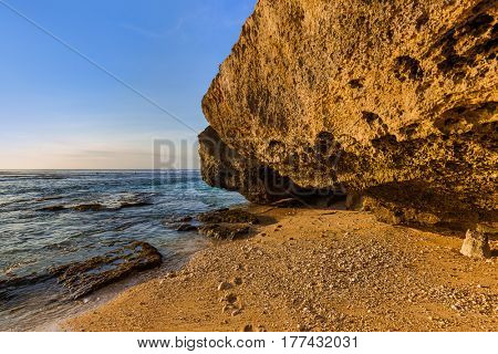 Suluban beach in Bali Indonesia - nature vacation background