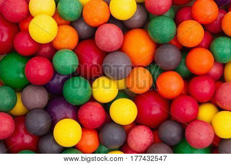 Colorful multi colored chewing  bubble gum background
