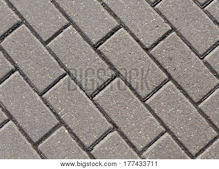 Gray Color Cobblestone Pavement Close-up