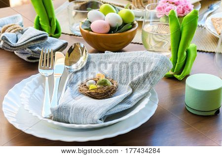 Happy Easter Table Setting
