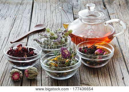 Herbal Medicine, Phytotherapy Medicinal Herbs.for Preparation Of Infusions, Decoctions, Tinctures, P