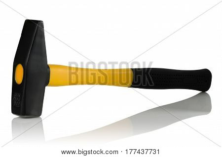 bench hammer weighing 800 grams on a white background