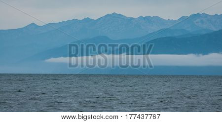 Lanscape in pastel colors at Lake Baikal, Russia