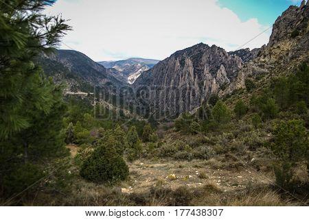 Los organos de Montoro, Teruel, Aragon, Spain