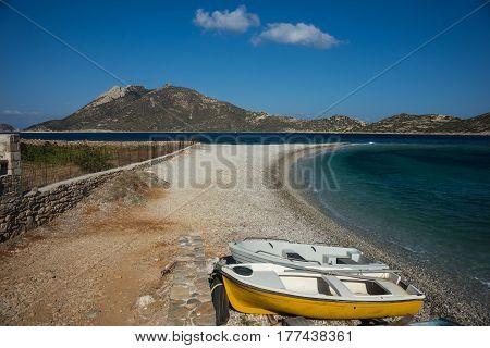 Agios Pablos beach on Amorgos, Cyclades, Greece