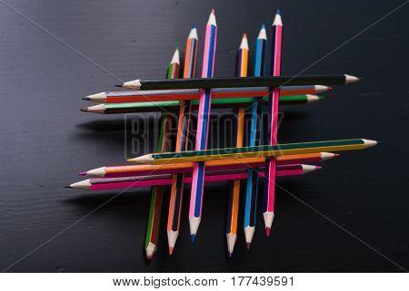 Hashtag Of Pencils.