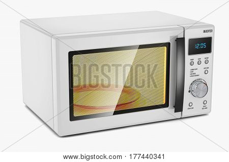 Microwave Oven. Household Appliance.