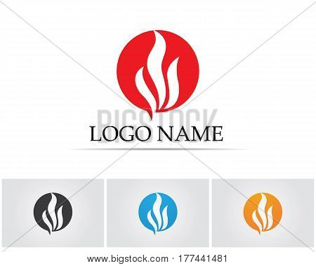 Fire flame logo and vector symbols icons