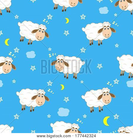 Lamb pattern seamless pattern vector illustration Cute, cartoon