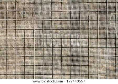Background or texture of building metal and fabric mesh
