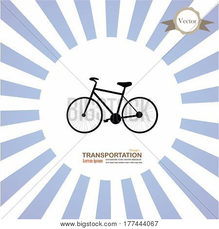 Bicycle icon.bicycle icon on sunburst background.vector illustration.