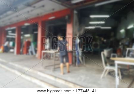 Blurred Photo, Blurry Image,.stainless Steel Factory,background.