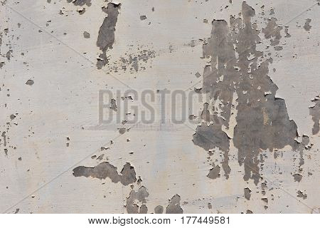 Detail of Flaking paint on galvanized metal