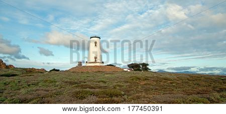 Lighthouse At Piedras Blancas Point On The Central Coast Of California Usa