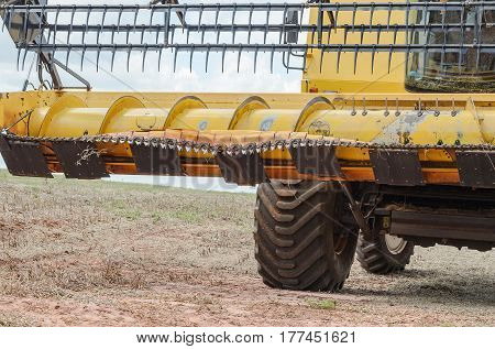 Blades Of A Tractor That Kneaded After Hitting A Tree Stump