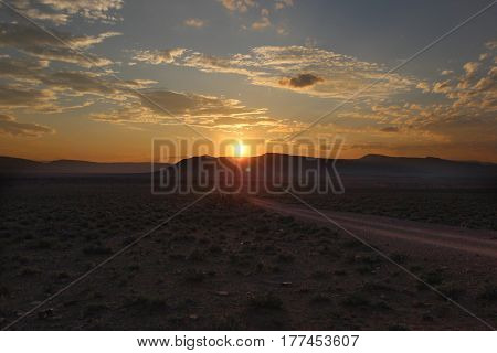 Sunset in Camdeboo National Park - South Africa