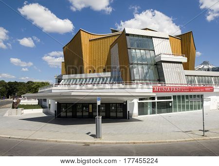 Berlin Germany - 20 July 2016: The Berliner Philharmonie concert hall Berlin Germany 20 July 2016