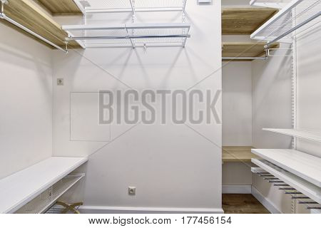 Russia Moscow - Modern interior design dressing room of urban real estate