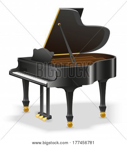 grand piano musical instruments stock vector illustration isolated on white background