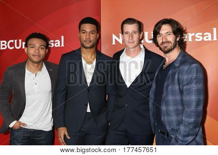 LOS ANGELES - MAR 20:  Robert Bailey Jr, JR Lemon, Brendan Fehr, Eoin Macken at the NBCUniversal Summer Press Day at Beverly Hilton Hotel on March 20, 2017 in Beverly Hills, CA