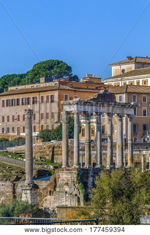 The Temple of Saturn is a temple to the god Saturn in ancient Rome.