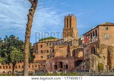 Trajan's Market is a large complex of ruins in the city of Rome Italy