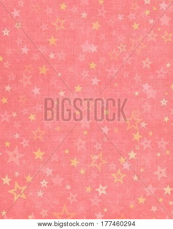 Star shapes on a textured pink cloth background.