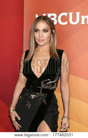 LOS ANGELES - MAR 20:  Jennifer Lopez at the NBCUniversal Summer Press Day at Beverly Hilton Hotel on March 20, 2017 in Beverly Hills, CA