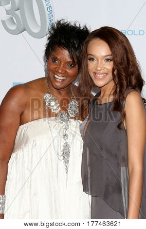 LOS ANGELES - MAR 19:  Anna Maria Horsford, Reign Edwards at the