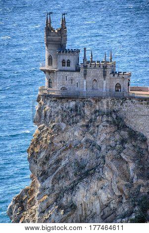 Castle swallow`s nest on Black Sea Yalta Crimea