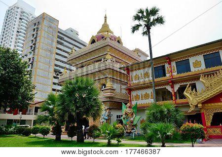 Georgetown/Malaysia - September 2012: Burmese buddhist temple in Georgetown, Penang, Malaysia.