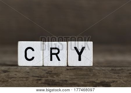 Cry, Written In Cubes